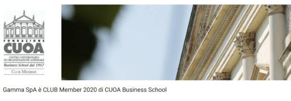 Gamma SpA è CLUB Member 2020 di CUOA Business School